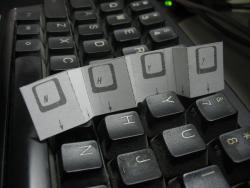 Keyboard divider installation