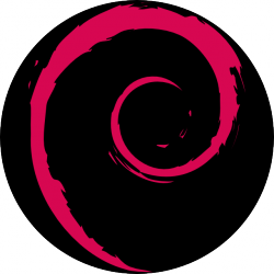 Debian logo in a circle