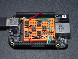 Navigation keypad with BeagleBone Black
